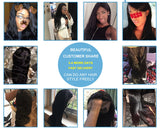 360 Lace Wigs 150% Peruvian Straight Lace Frontal Wigs For Women