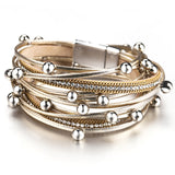 Crystal Metal Beads Charm Bohemian Style Female Bracelet