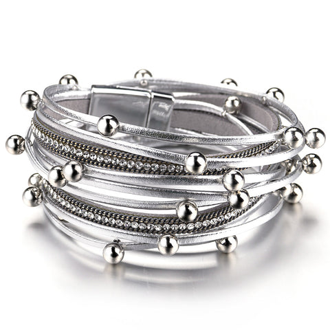 Image of Crystal Metal Beads Charm Bohemian Style Female Bracelet