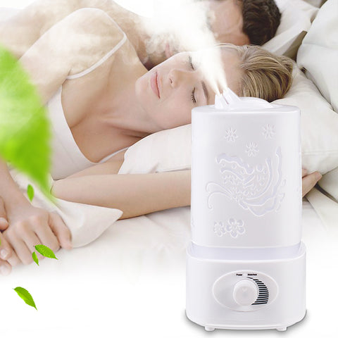 Image of Aromatherapy Air Humidifier Fogger LED Night Light Carve Aroma Diffuser