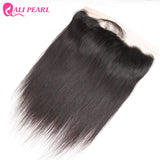 Ear to Ear Lace Frontal Closure 13X4 Free Part With Baby Hair Pre Plucked Brazilian Straight Human Hair