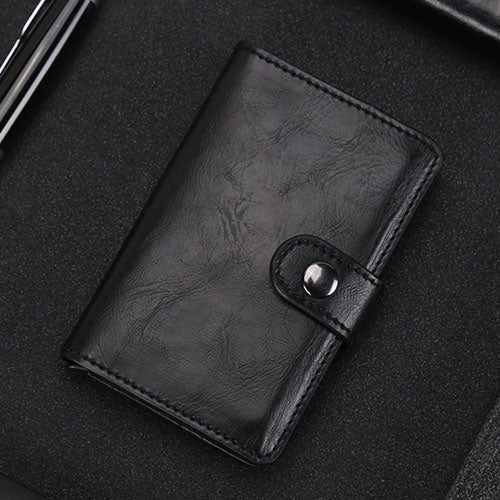 Automatic Crazy Horse Leather Credit Card Holder