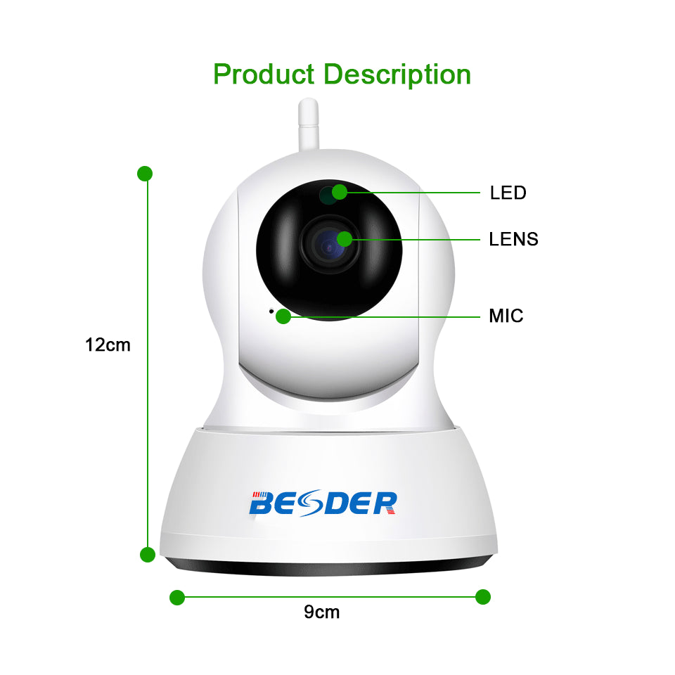 Two Way Audio CCTV WiFi Camera Baby Monitor