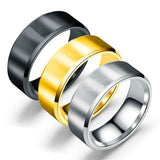 8MM Brushed 316L Stainless Steel Rings