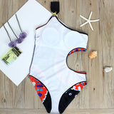 One Shoulder Hollow Out Bathing Suit