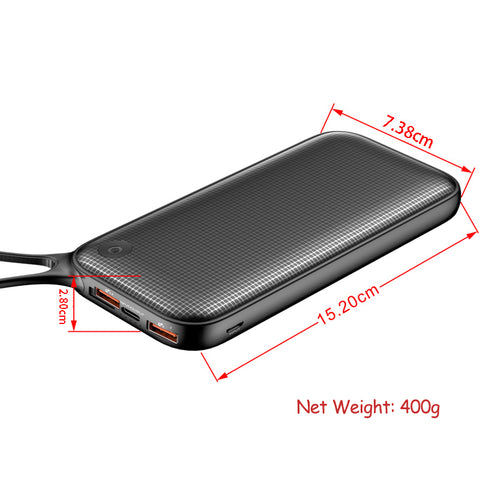 20000mAh Powerbank Portable External Battery Charger For Outputs