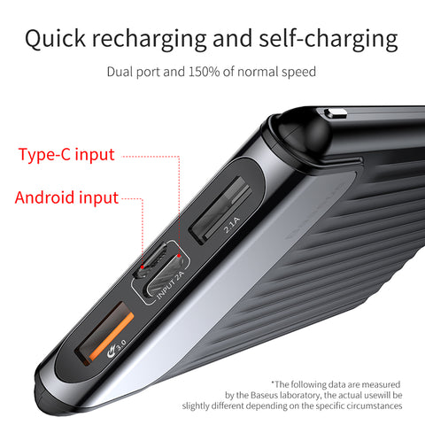 Image of Quick Charge 3.0 10000mAh Dual USB LCD Powerbank