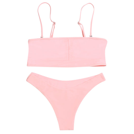 Backless Cut Out Women Bikini Set