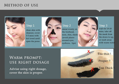 Image of Blackhead Removal Bamboo charcoal Black Mask Deep Cleansing Peel Off Mask Pores Shrinking Acne Treatment