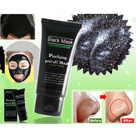 Image of Blackhead Remove Facial Masks Deep Cleansing Purifying Peel Off Black Nud Facail Face black Mask