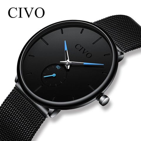 Image of Slim Mesh Steel Waterproof Minimalist Wrist Watches