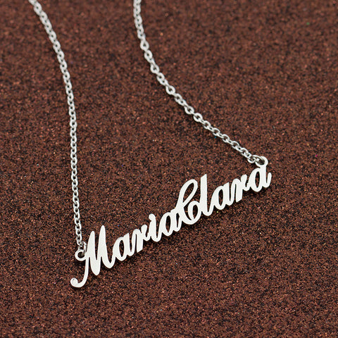 Image of Name Charm Necklace