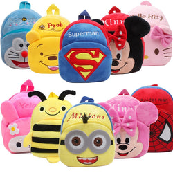Cute Cartoon Kids Plush Backpack