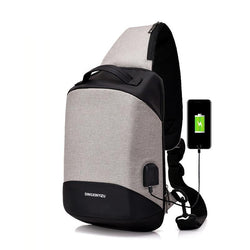 USB Sling Bag for Men. Women Chest Bag