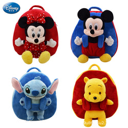 Disney Mickey Minnie Mouse Kids Plush Backpack