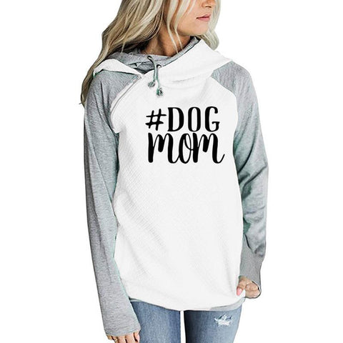 Image of Dog Mom Hoodies Kawaii Sweatshirt