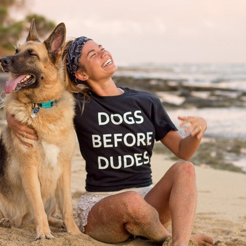 Image of Dogs Before Dudes T-shirt