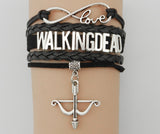 Love Walking Dead Bracelet- Bow Charm- Custom Friendship Gift