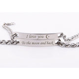 Love You To The Moon And Back Lovers Bracelets