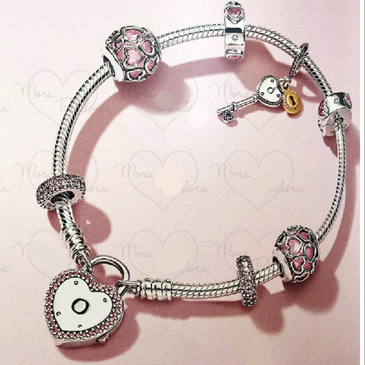 925 Sterling Silver Elegant Romantic Love Bracelet