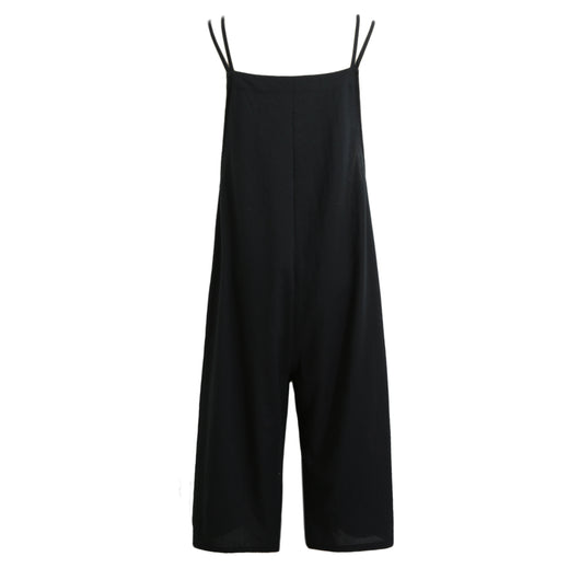 Dungaree Overalls Casual Loose Solid Jumpsuit Trousers
