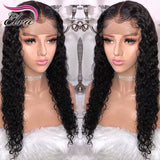 Curly Lace Front Human Hair Wigs Pre Plucked Hairline Brazilian Remy Hair