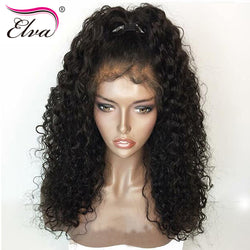 Lace Front Human Hair Wigs Curly Brazilian Remy Hair