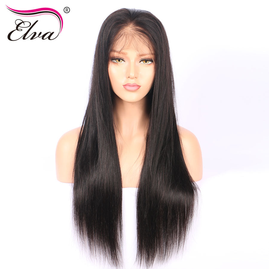Lace Front Human Hair Wigs Straight Brazilian Remy Hair