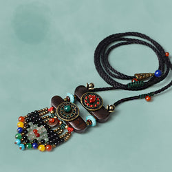 Ethnic Vintage Stones Tibetan Necklace