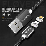2 Connectors Magnetic Cable For iPhone 7 6 5 5S & Micro USB Charging Cables Car Magnet Charger