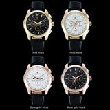 FORSINING Luxury Brand Gold Point Dial Watches