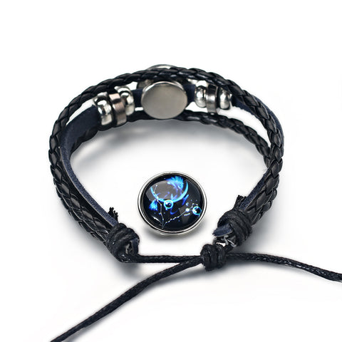 Image of Handmade Leather Zodiac Bracelets