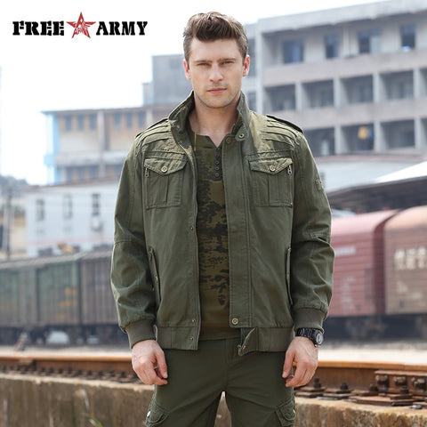 Image of Military Men Bomber Camo Jacket