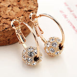 Austrian Crystal Ball Boucle D'oreille Stud Earrings