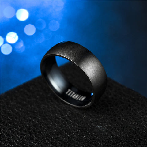 Image of Titanium Men Matte Finished Classic Engagement Anel Rings