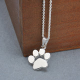 Cute Dogs Footprints Chain Pendant Necklace