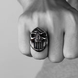 Gothic Skeleton Scar Jaw Beer Bottle Opener Rings