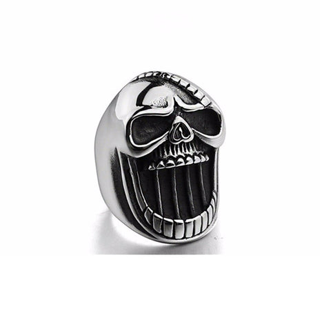 Image of Gothic Skeleton Scar Jaw Beer Bottle Opener Rings