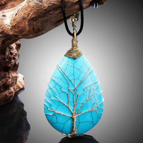 Image of Tree Life Pendant Chain Necklace