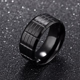Titanium Steel Personality Fringe Mark Ring