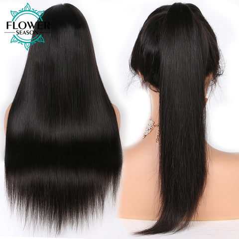 Image of 13x6 Silky Straight Lace Front Human Hair Wigs With Baby Hair