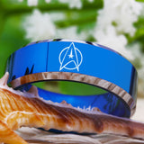 Limited Edition Customs Engraving 8MM Shiny Edges Star Trek Tungsten Ring
