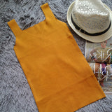Knitted Summer Blouse Sleeveless V Neck Top