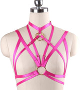 Gothic Festival Body Harness Punk Rave Wear Cage Bra