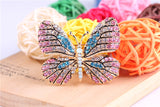 Cute Butterfly Brooch Austrian Crystal Rhinestone Brooches
