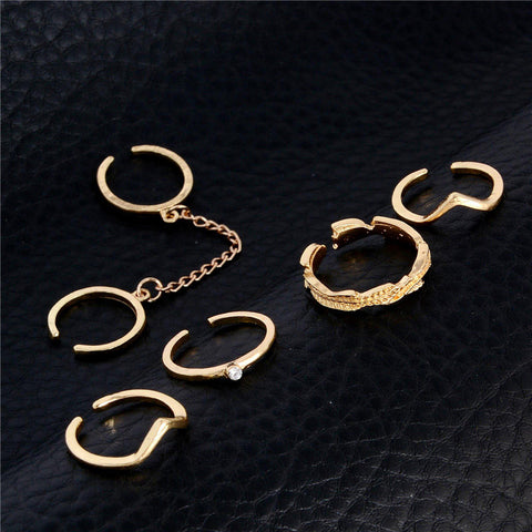 Image of Unique Adjustable Punk Style Knuckle Rings
