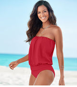 One Piece Tankini Plus Size Swimwear