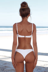 New Summer Women Solid Bikini Set
