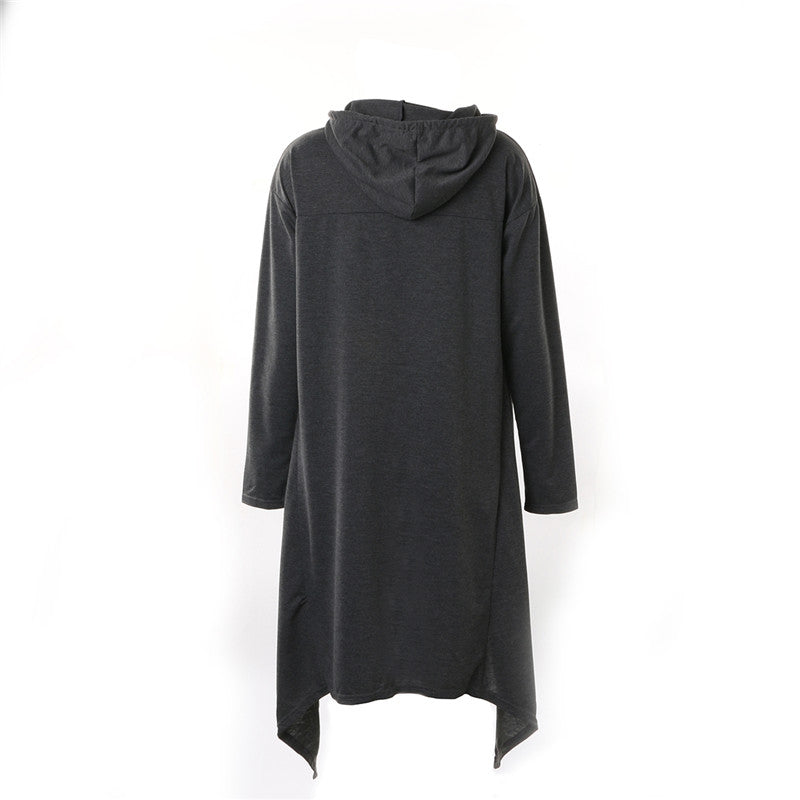 Women Long Sleeve O-Neck Cotton Hoodies