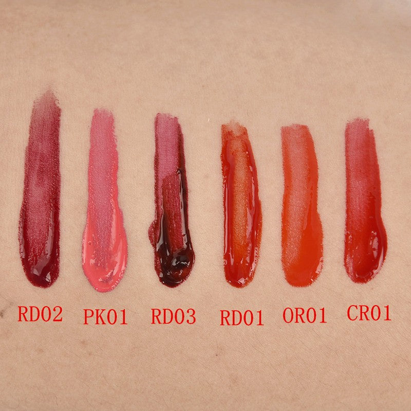 6 Colors Wine Lip Stain, Waterproof Lip Glosses, Lip Tint, Liquid Lipstick